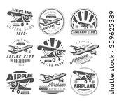airplane club vector... | Shutterstock .eps vector #359625389
