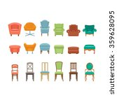 furniture for sitting. chairs... | Shutterstock .eps vector #359628095