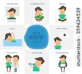 healthy infographics elements   ... | Shutterstock .eps vector #359634539