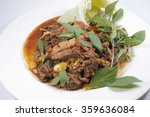 thai cuisine spicy pork salad ... | Shutterstock . vector #359636084