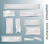 White textile banners and flags | Shutterstock vector #359640905
