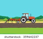 tractor plowing a field for... | Shutterstock .eps vector #359642237