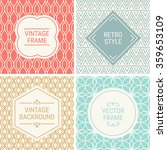 set of vintage frames in red ... | Shutterstock .eps vector #359653109