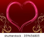 pink heart frame with message... | Shutterstock . vector #359656805