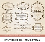 collection of vector elements   | Shutterstock .eps vector #359659811