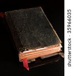 Small photo of Old worn family Bible