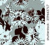 art vintage monochrome... | Shutterstock . vector #359663717