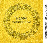 happy valentine day holiday... | Shutterstock .eps vector #359672255