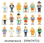 vector set of characters in a... | Shutterstock .eps vector #359674721