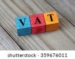 vat text  value added tax  on... | Shutterstock . vector #359676011