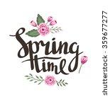 "stylish lettering ""spring time... | Shutterstock .eps vector #359677277"