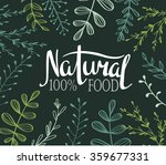 eco card with plants and... | Shutterstock .eps vector #359677331
