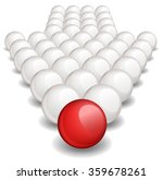 arrow made up of white balls... | Shutterstock .eps vector #359678261