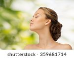 young woman face and shoulders | Shutterstock . vector #359681714