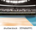 empty volleyball court | Shutterstock . vector #359686991