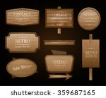 realistic vector wood sign and... | Shutterstock .eps vector #359687165