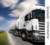 truck driving on country road... | Shutterstock . vector #3596926