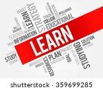 learn word cloud  education... | Shutterstock . vector #359699285