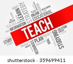 teach word cloud  education... | Shutterstock . vector #359699411