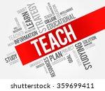 teach word cloud  education... | Shutterstock . vector #359699411