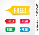 vector of free tag  free sign ... | Shutterstock .eps vector #359700497
