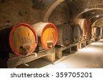 Barrels Aging Wine Chianti Italy