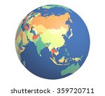 political globe with colored ... | Shutterstock . vector #359720711