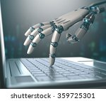 robotic hand  accessing on... | Shutterstock . vector #359725301