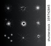set of broken glass with... | Shutterstock .eps vector #359742845