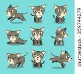 Cartoon Character Grey Tabby...