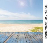 wooden floor with beautiful... | Shutterstock . vector #359751731
