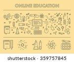 line design concept web banner... | Shutterstock . vector #359757845