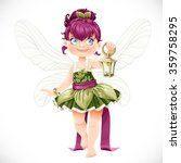 beautiful little fairy with a... | Shutterstock .eps vector #359758295