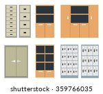 set of office cabinet and... | Shutterstock .eps vector #359766035