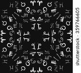zodiac circular pattern  sign   ... | Shutterstock .eps vector #359766605