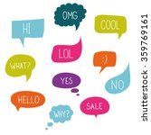 Vector Speech Bubble Colorful...