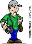photographer  place for logo on ... | Shutterstock .eps vector #3597695
