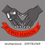 two drawn hands   vector... | Shutterstock .eps vector #359781569
