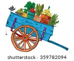 A Vintage Farmer Cart   Cartoon