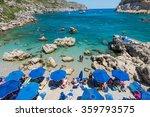 the summer beach  rhodes greece | Shutterstock . vector #359793575