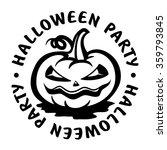 halloween party stamp | Shutterstock .eps vector #359793845
