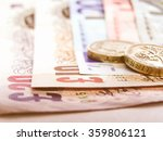 Stock photo  detail of euro and pounds money currency vintage 359806121