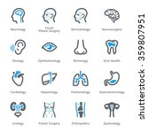 medical specialties icons set 1 ... | Shutterstock .eps vector #359807951