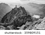 man on the top of the mountains ... | Shutterstock . vector #359809151