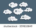vector multimedia icons in... | Shutterstock .eps vector #359810849