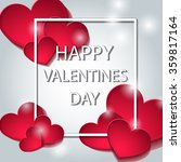 banner with hearts. title page. ... | Shutterstock .eps vector #359817164