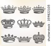 collection of  vector vintage... | Shutterstock .eps vector #359822105