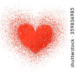 blurred valentine's heart. red... | Shutterstock .eps vector #359836985