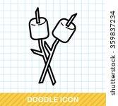 marshmallow doodle | Shutterstock .eps vector #359837234