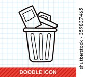 trash can doodle | Shutterstock .eps vector #359837465